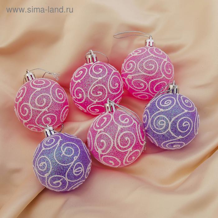 """Новогодние шары """"Волшебные узоры"""" (набор 6 шт.)"""