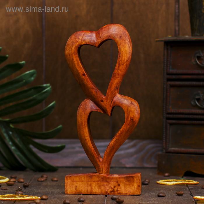 "Сувенир ""Два сердечка"" тёмный"