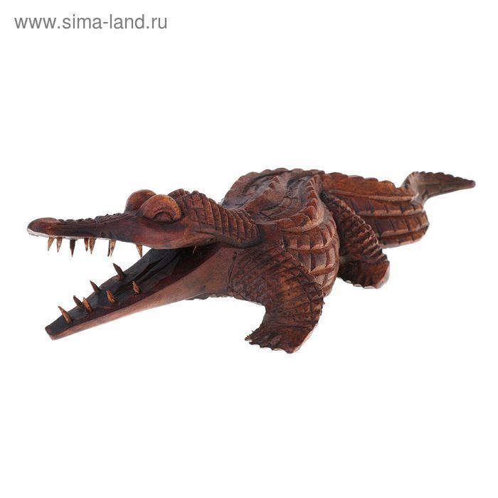 """Сувенир """"Крокодил """" коричневый"""