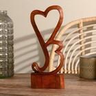 """Сувенир """"Два сердца"""" тёмный"""