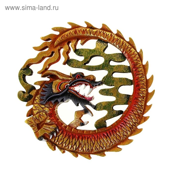 """Панно """"Огненный дракон"""" цветной МИКС"""