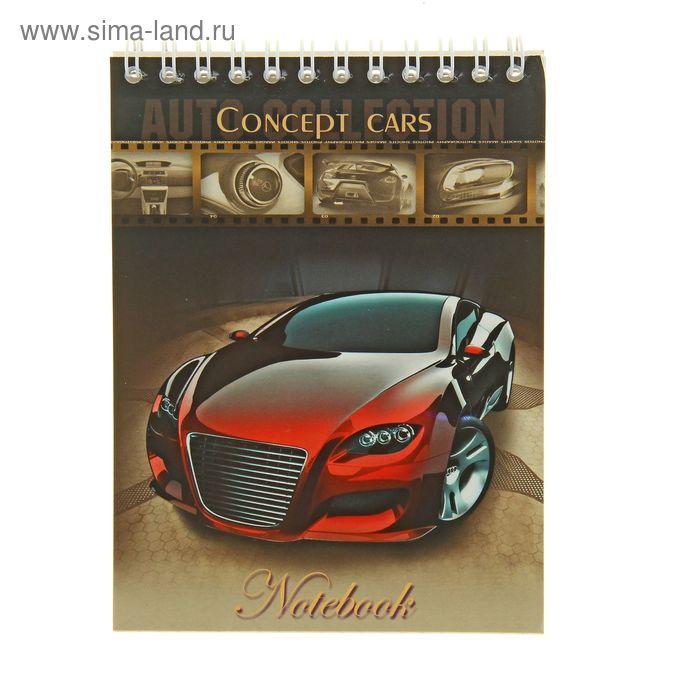 Блокнот А6, 40 листов на гребне Concept Cars, выборочно УФ-лак, МИКС