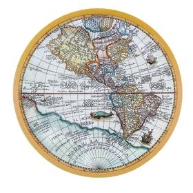 Тарелка с ламинацией 'Карта', 23 см Ош