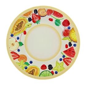 Тарелка с ламинацией 'Фрукты', 18 см Ош