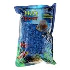 """Грунт для аквариума """"Мраморная крошка темно-синяя блестящая"""" 5-10 мм, 1 кг"""