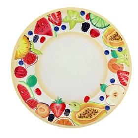 Тарелка с ламинацией 'Фрукты', 23 см Ош