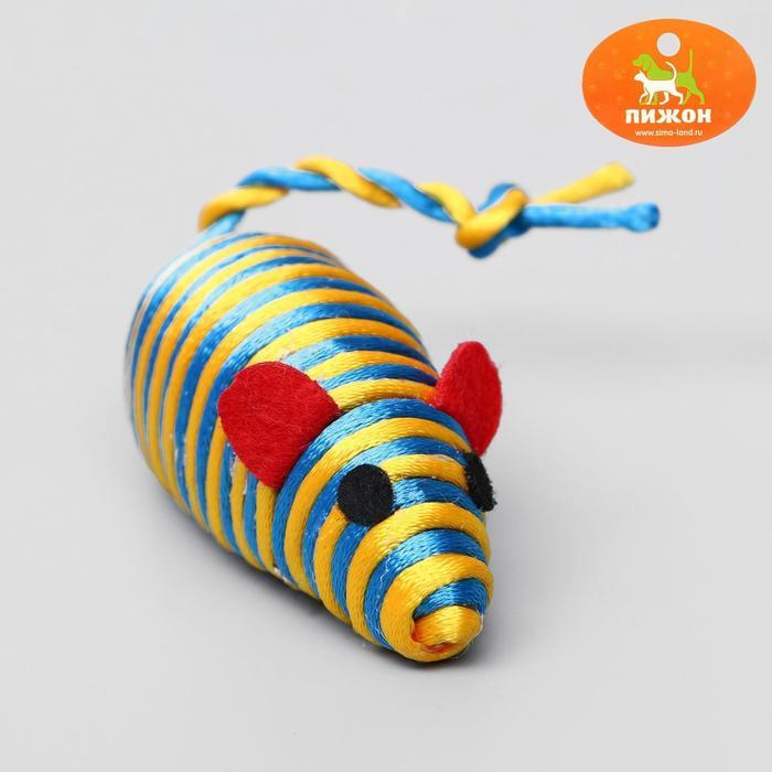 Мышь-погремушка радужная, 7 см