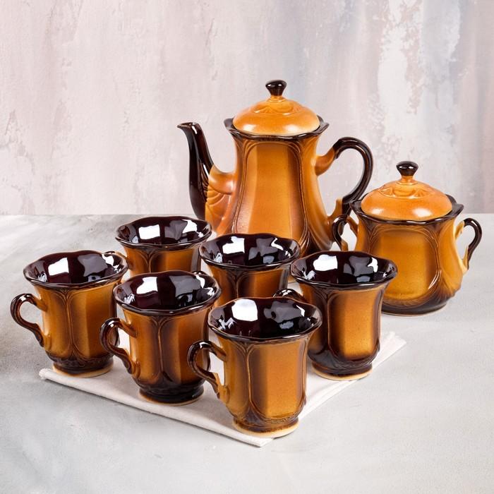 """Набор чайный """"Ажур"""", 8 предметов 1 л/ 0,22 л"""