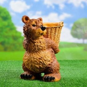 """Садовая фигура """"Медведь с корзиной"""""""