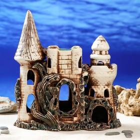 """Декорации для аквариума """"Замок с аркой"""" коричневый"""
