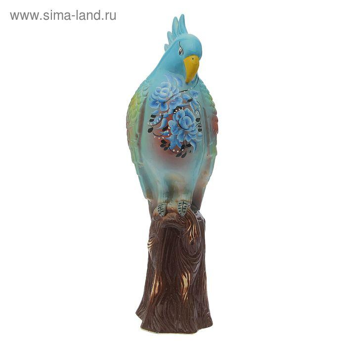 """Садовая фигура """"Голубой попугай"""""""