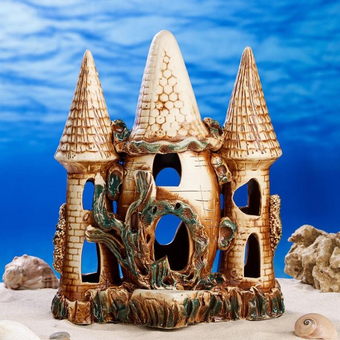 """Декорации для аквариума """"Замок евро"""""""