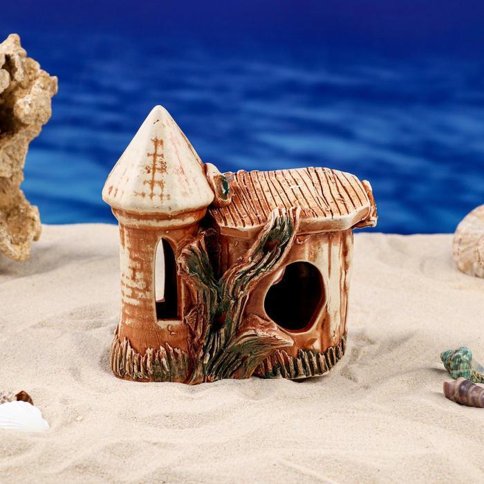 """Декорации для аквариума """"Черепашник куполок"""" коричневый"""