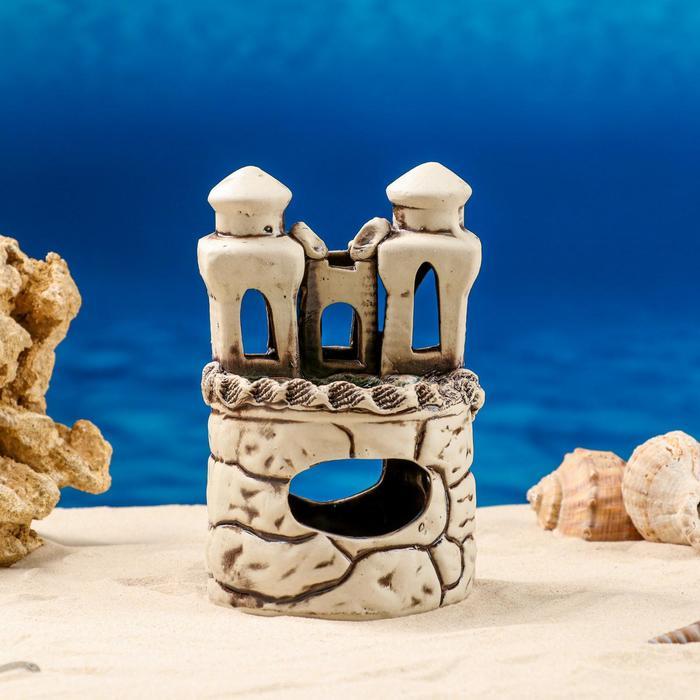 """Декорации для аквариума """"Замок на пне"""" коричневый, микс"""