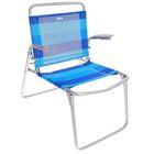 Кресло-шезлонг складное, цвет сине-голубой