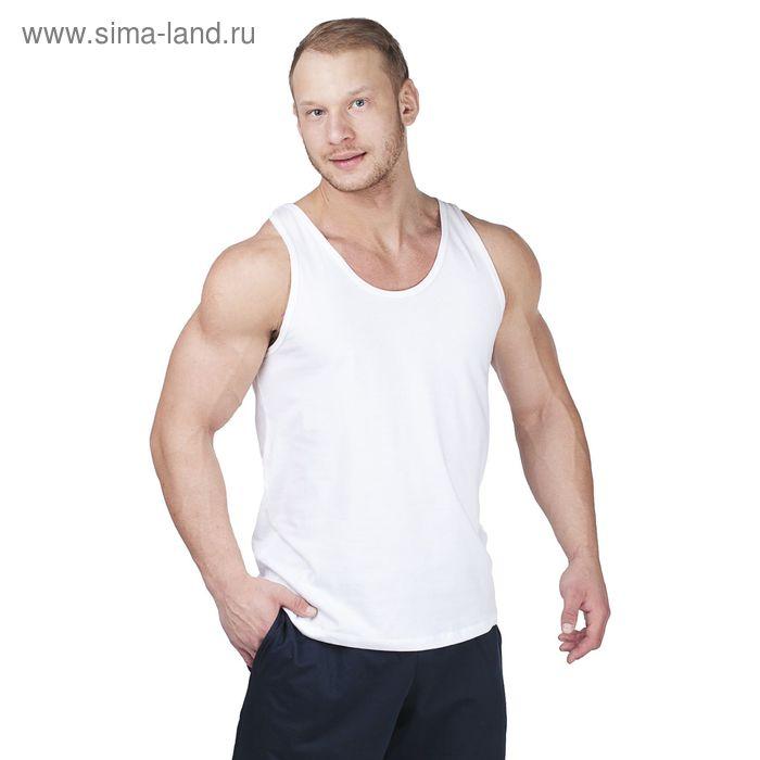 Майка мужская 1541 белый, рост 170,176, р-р 56 (112)