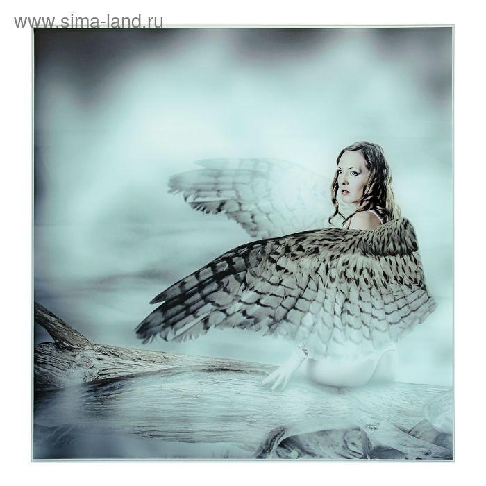 """Картина на стекле """"Девушка-ангел"""""""
