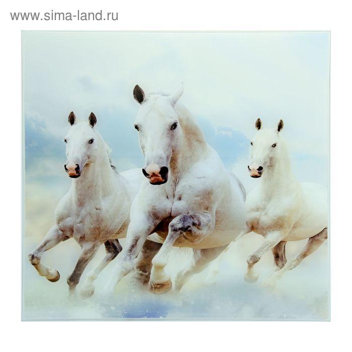 """Картина на стекле """"Тройка лошадей"""""""