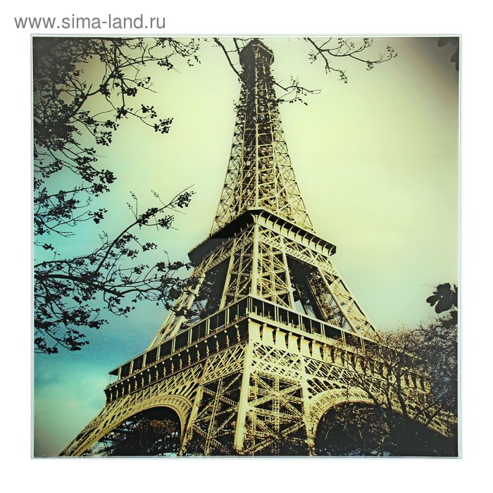 """Картина на стекле """"Париж"""""""