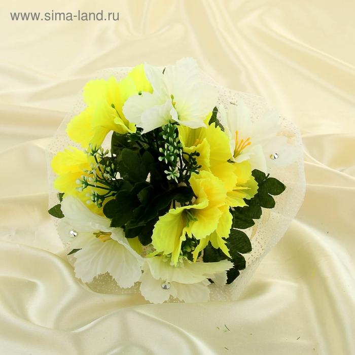 Букет-дублёр для невесты «Колокольчики», бело-жёлтый, 11 шт.