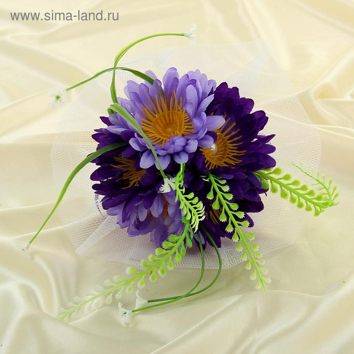Букет-дублёр для невесты «Герберы», фиолетовый, 5 шт.