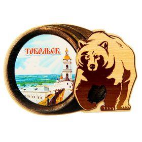 Магнит в форме медведя 'Тобольск' Ош
