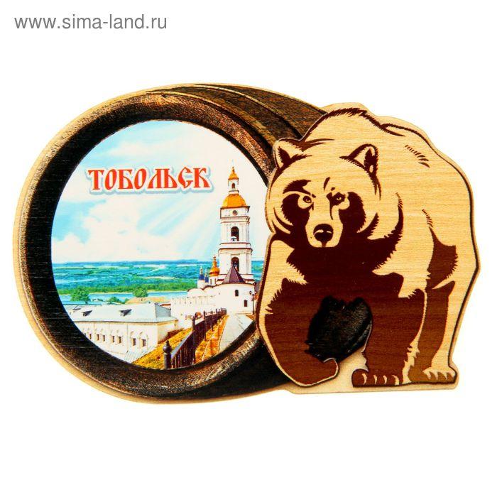 """Магнит в форме медведя """"Тобольск"""""""