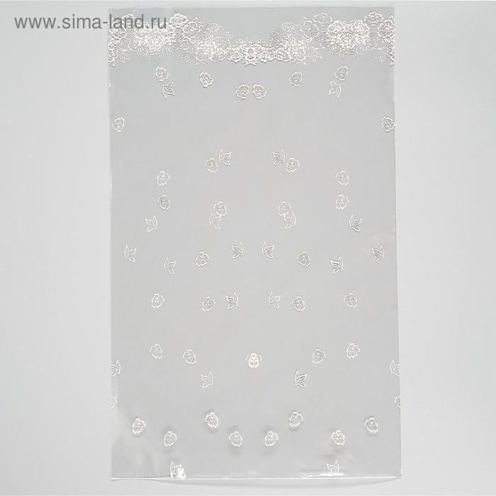 """Пакет подарочный """"Алина"""" 25 х 40 см, однотонный рисунок"""