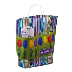 """Пакет """"Тюльпаны"""" мягкий пластик, с карманами, 37х37 см, 150 мкм"""