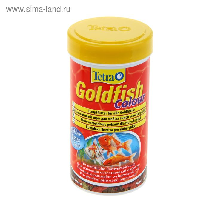 Корм для рыб Tetra Goldfish Colour хлопья, 250 мл