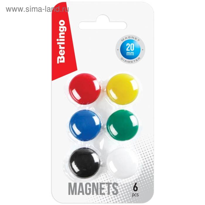 Магниты для досок 20 мм 6 штук Berlingo европодвес SMm_02010