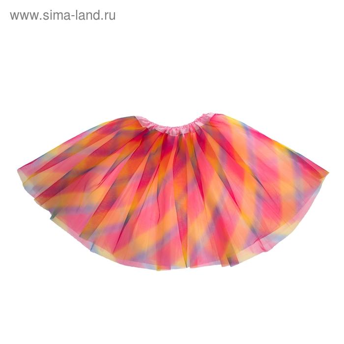"""Карнавальная юбка """"Северное сияние"""", 3-х слойная 4-6 лет"""