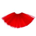 Карнавальная юбка 3-х слойная 4-6 лет, цвет красный