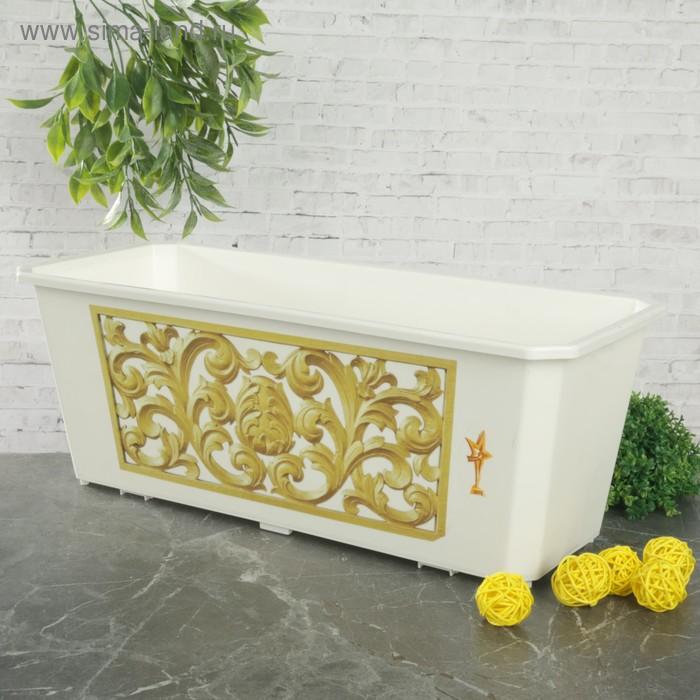 Ящик балконный 40 см Декор