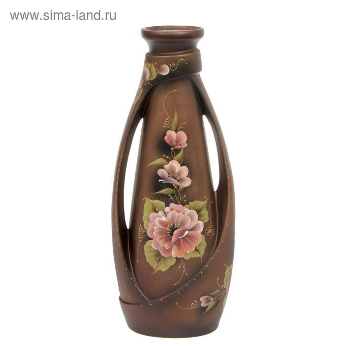 """Ваза напольная """"Венеция"""" цветы, акрил, шоколад"""