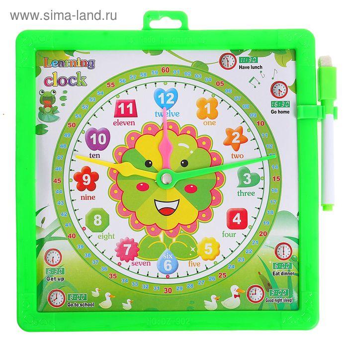 Доска для рисования маркером двухсторонняя, оборот часы, маркер, цвет зеленый