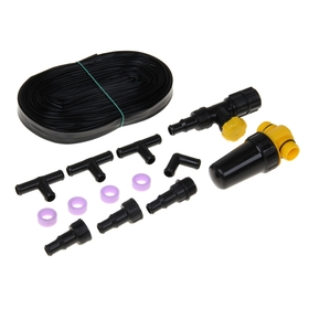 Комплект для капельного полива, КПК-24 (капельная лента 24 м, кран, фильтр, фитинги)