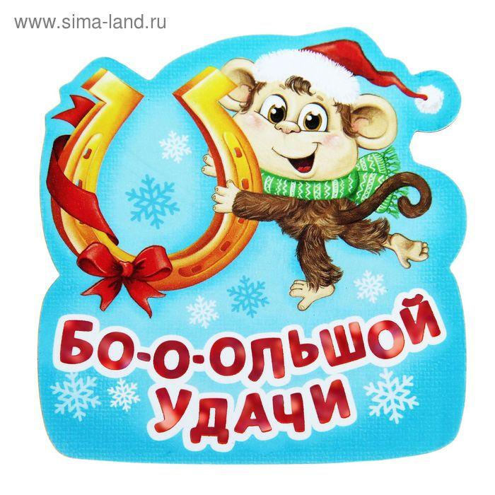 """Магнит с символом года """"Бо-о-о-льшой удачи!"""""""