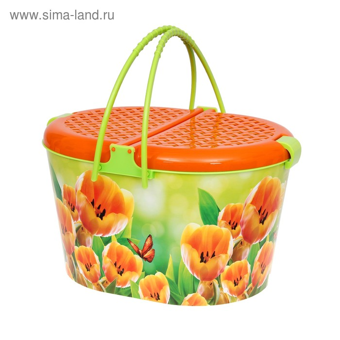 "Корзина для пикника ""Тюльпаны"""