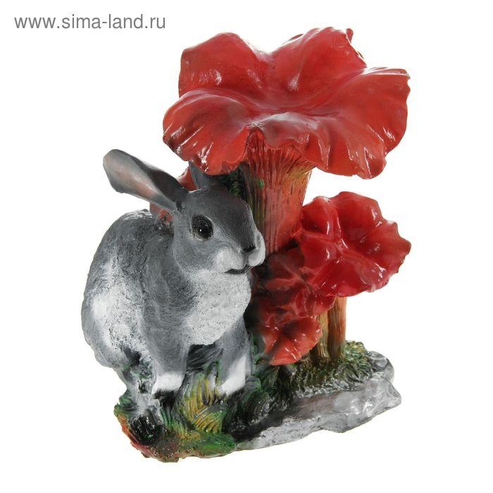 """Садовая фигура """"Грибы лисички с зайцем"""""""