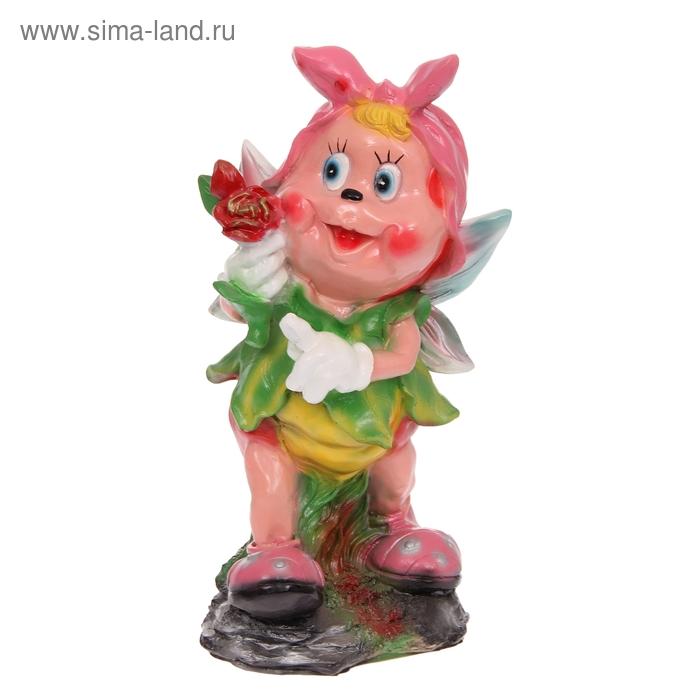 """Садовая фигура """"Девочка-пчёлка в платке"""""""