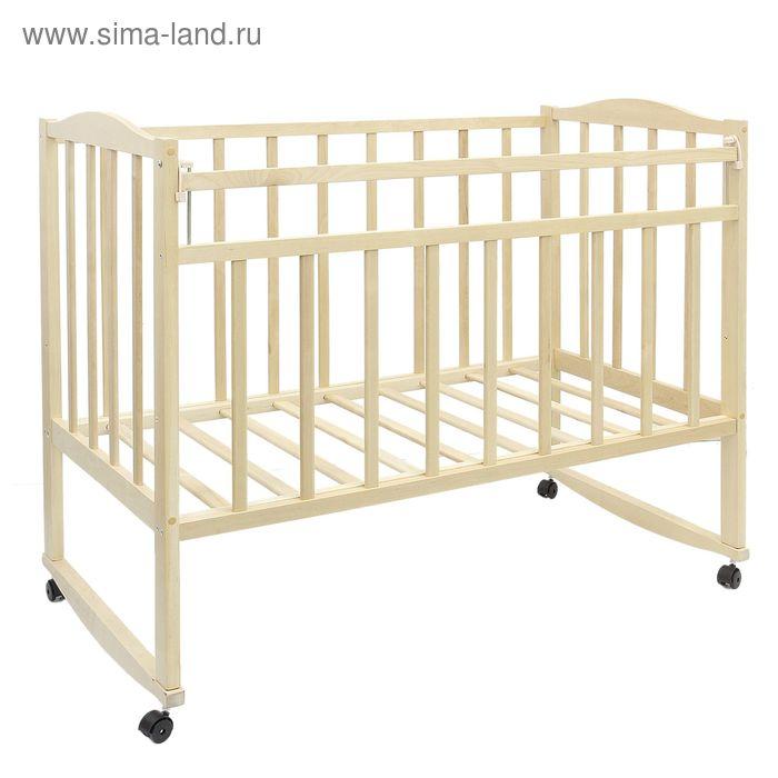 Детская кроватка VDK-Magico на колёсах или качалке, цвет берёза