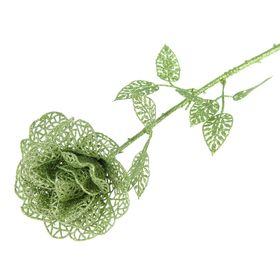 """Цветок искусственный """"Ажурная роза"""" зелёная"""