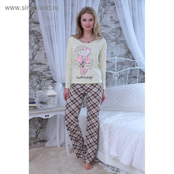 Комплект женский (кофта, брюки) FS2214 желтый, р-р 48