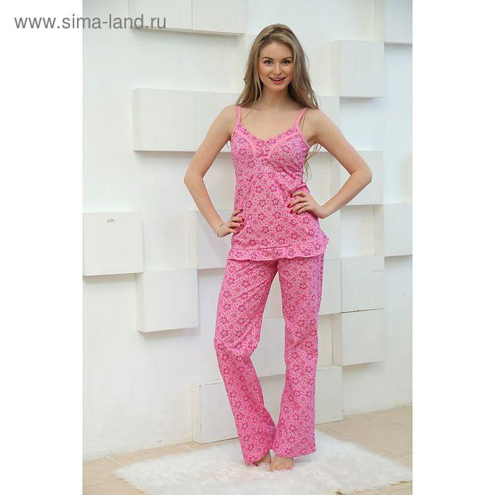 Пижама женская (топ, брюки), цвет розовый, размер 44 (арт. FS2166)