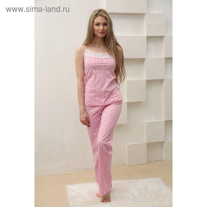 Пижама женская (топ, брюки) FS2147 розовый, р-р 50