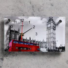 Часы настольные прямоугольные 'Биг Бен' 13х23 см микс Ош