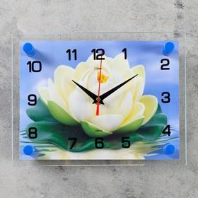 """Часы настенные прямоугольные """"Кувшинка"""", 20х26 см микс"""