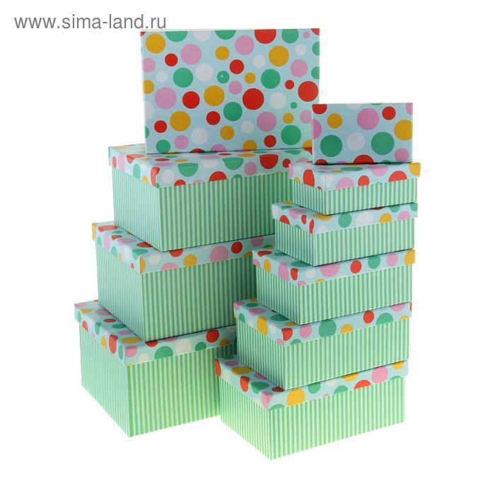 """Набор коробок 10в1 """"Всплеск"""", цвет зелёный"""