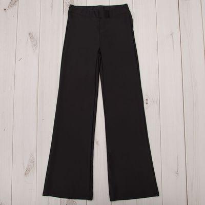 Брюки гимнастические расклешенные, рост 164 см (14 лет), цвет черный